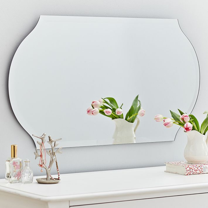 pbteen romantic mirror to make small space larger