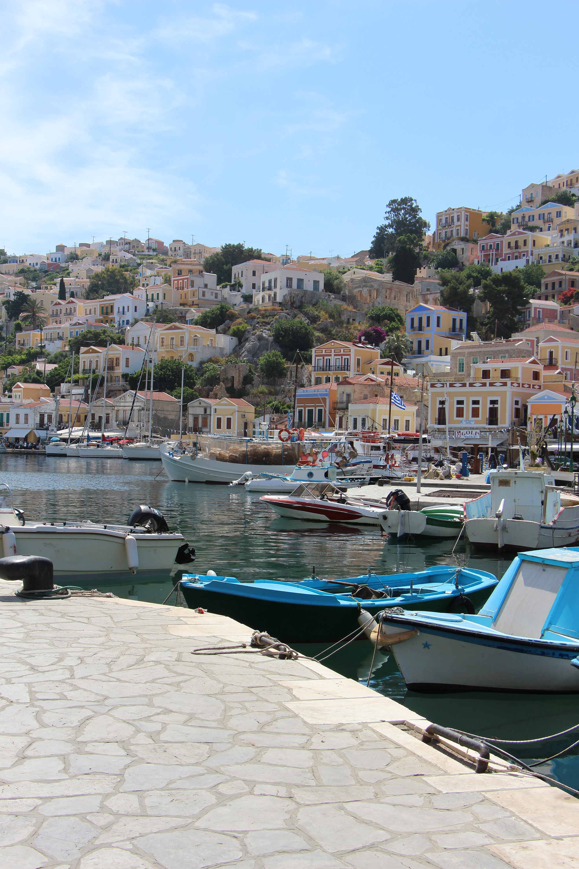 symi port greek dodecanese islands