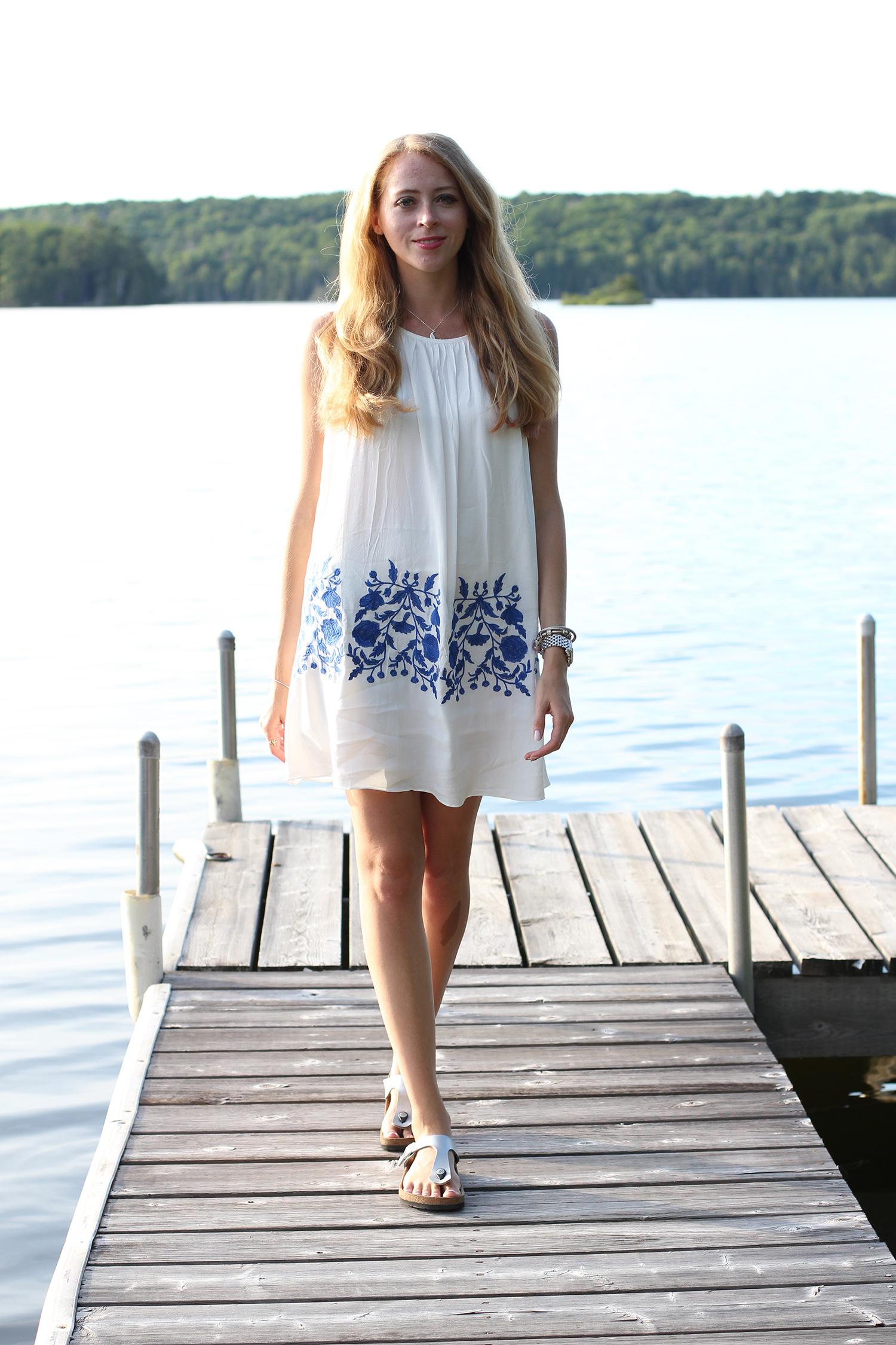 how to wear a dress with birkenstocks