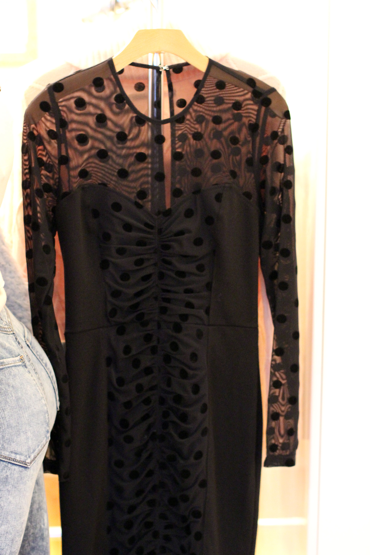 guess holiday polkadot black dress