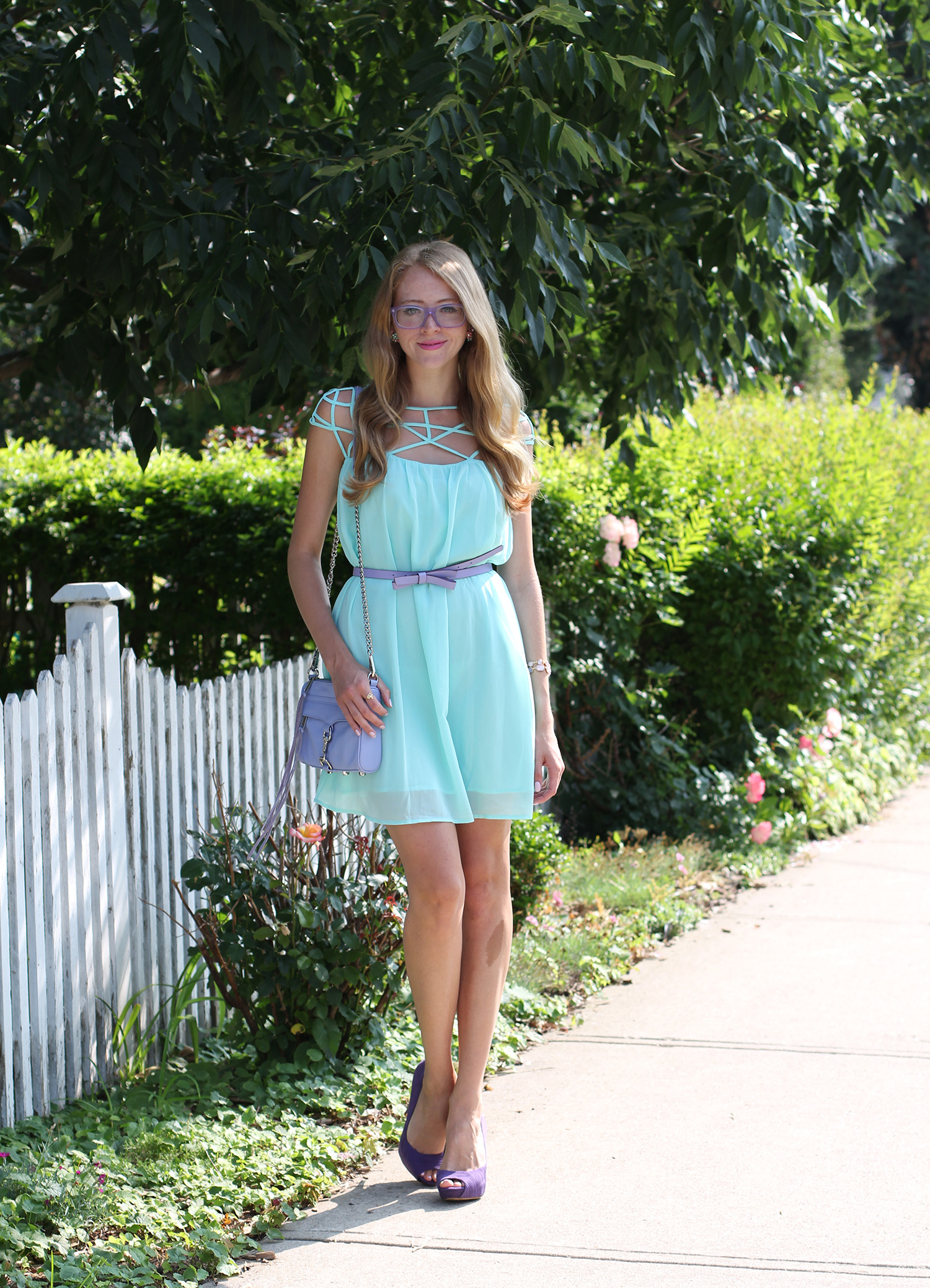 mint cage dress chiffon kate spade bow belt