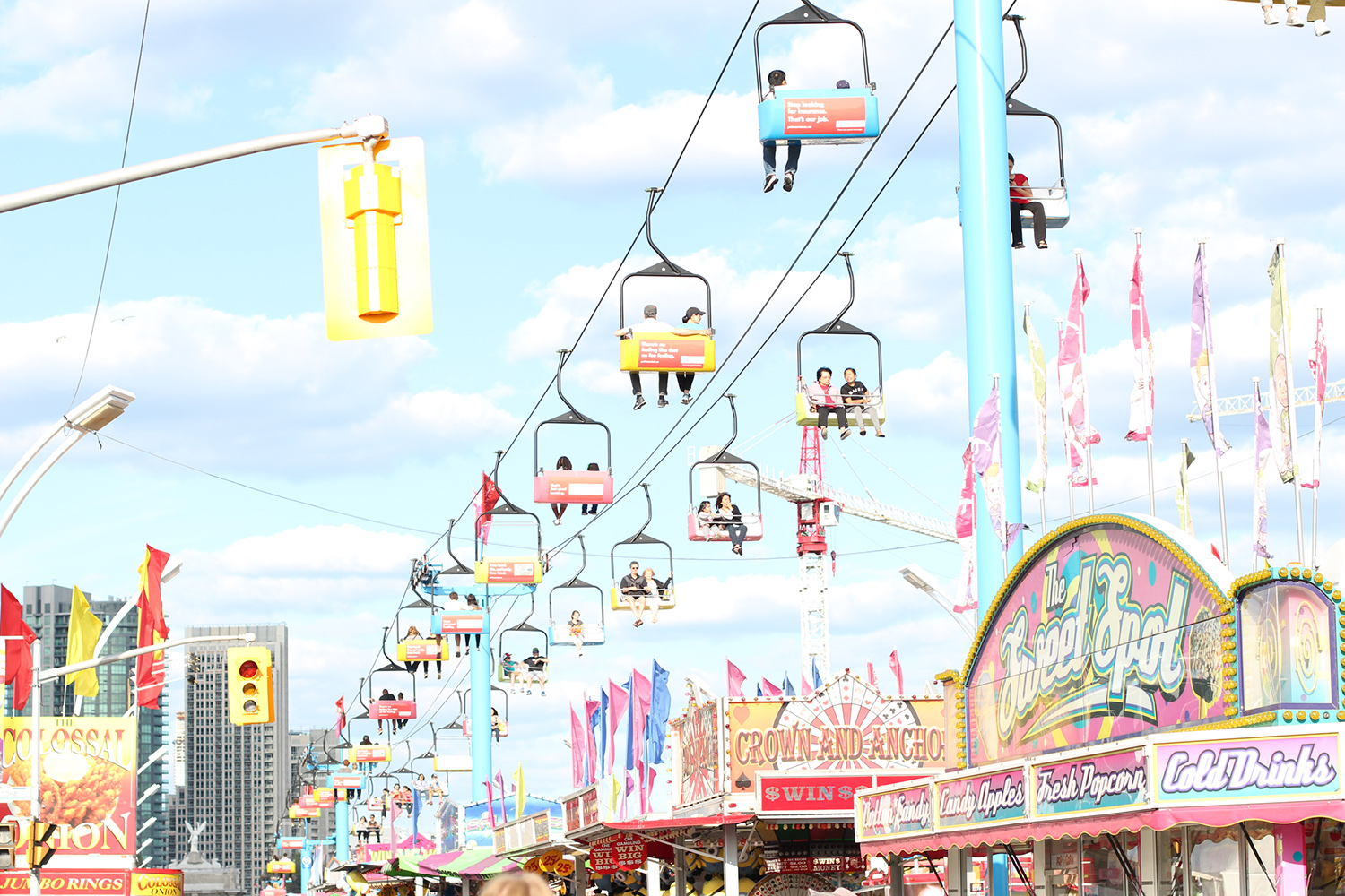 cne the ex midway chair lift ride