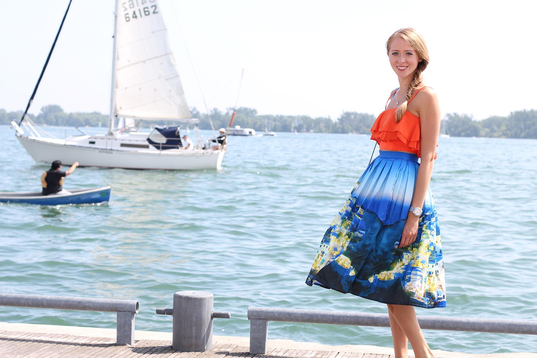greece print maxi skirt