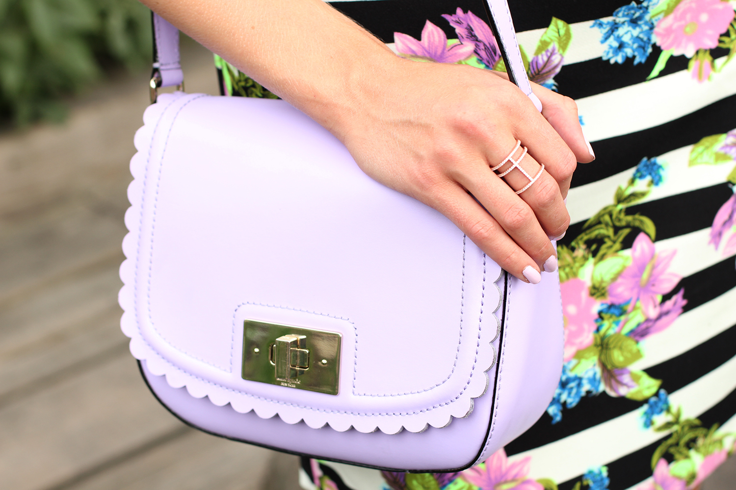 light purple kate spade purse
