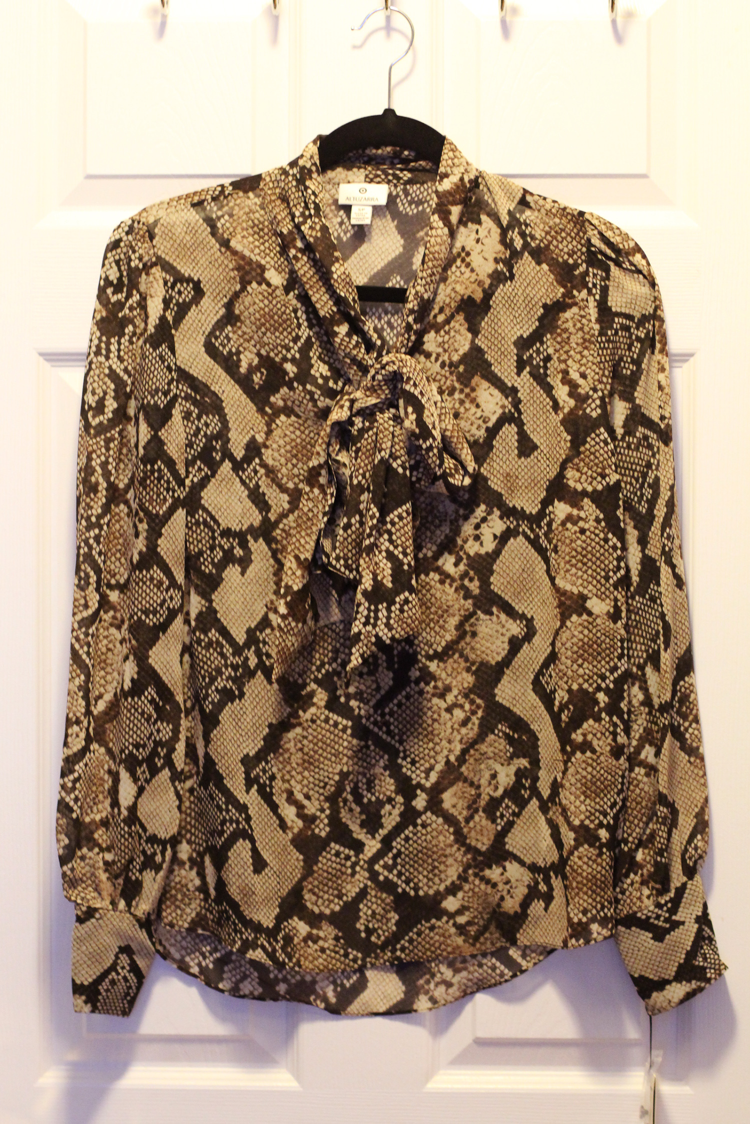 altuzarra for target snakeskin shirt