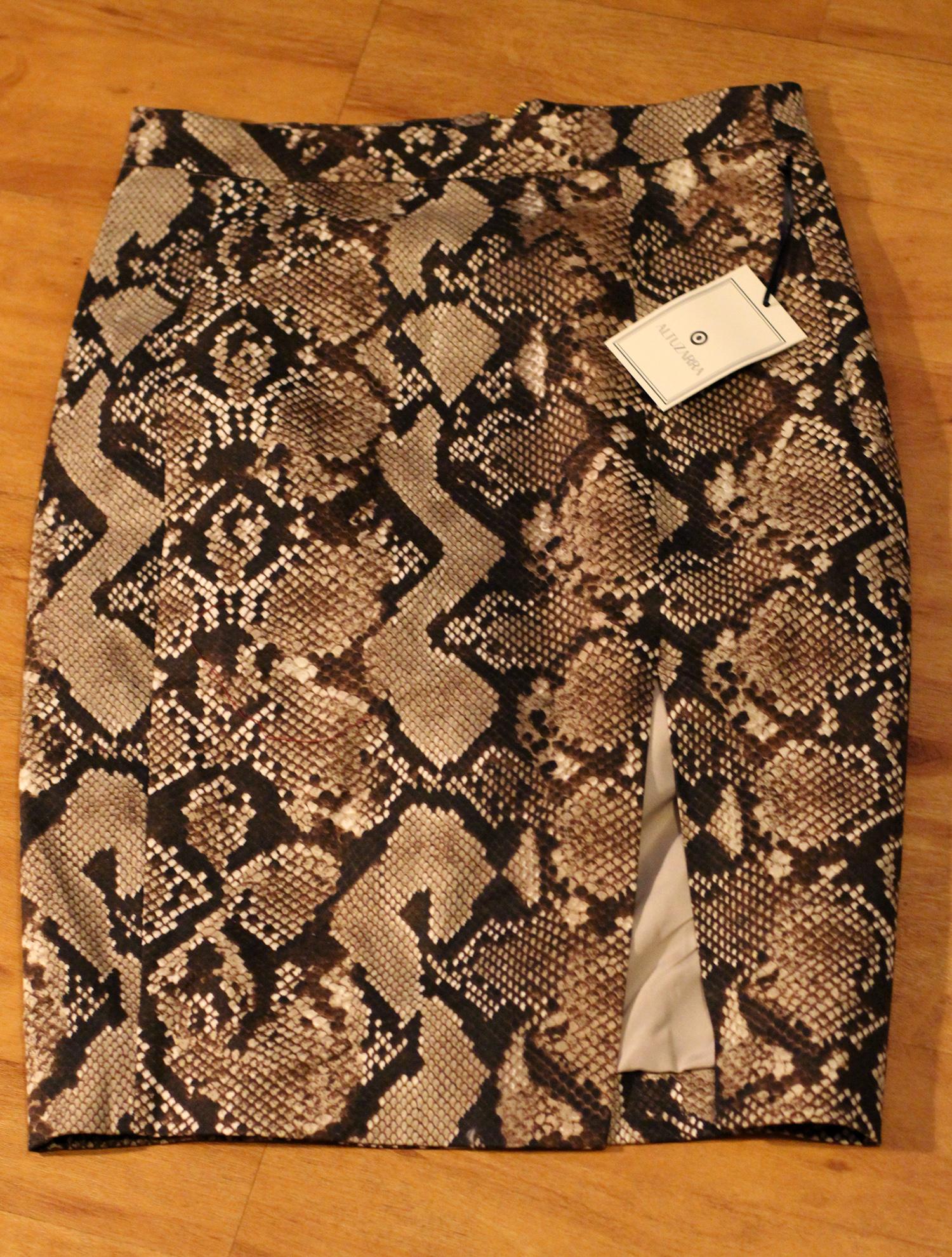 altuzarra for target snakeskin skirt