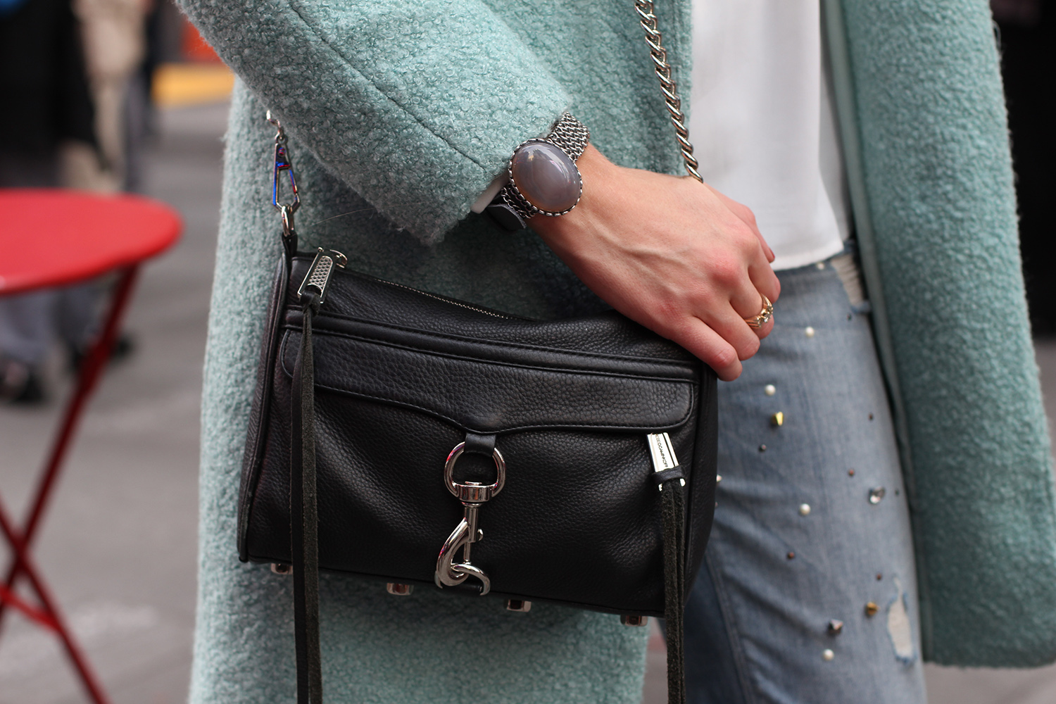black mini mac purse