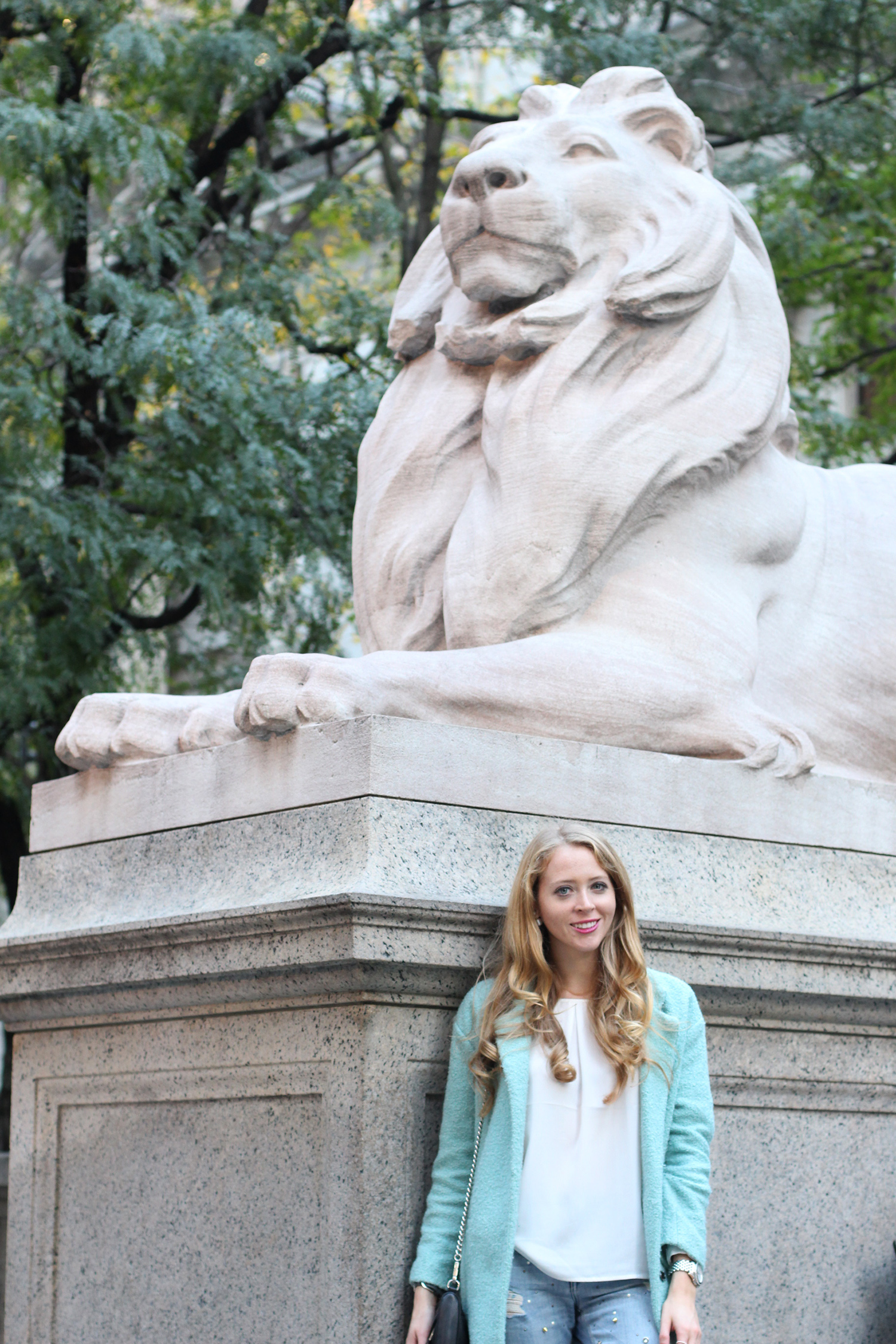 nyc library lions