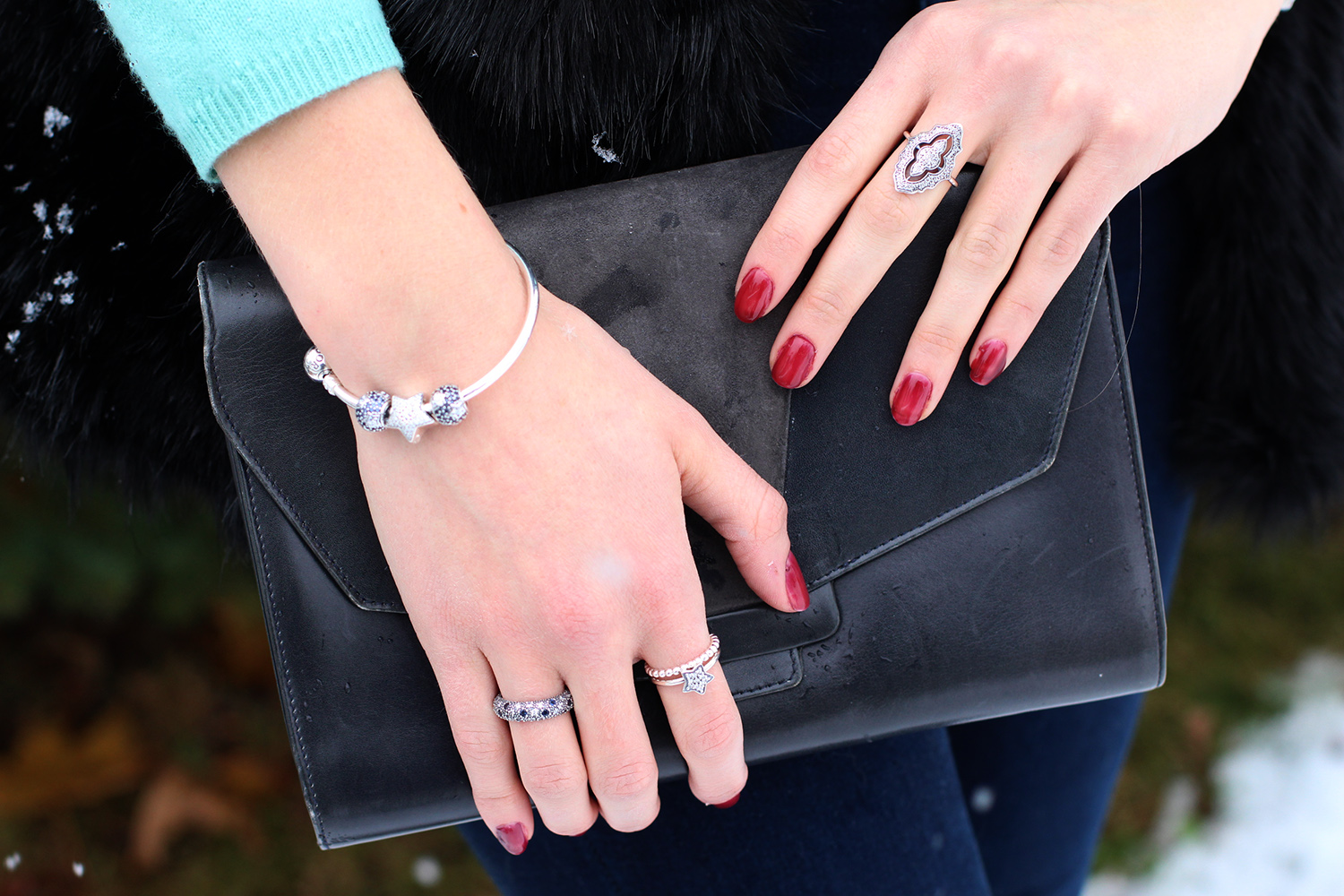pandora winter collection rings sparkling lace