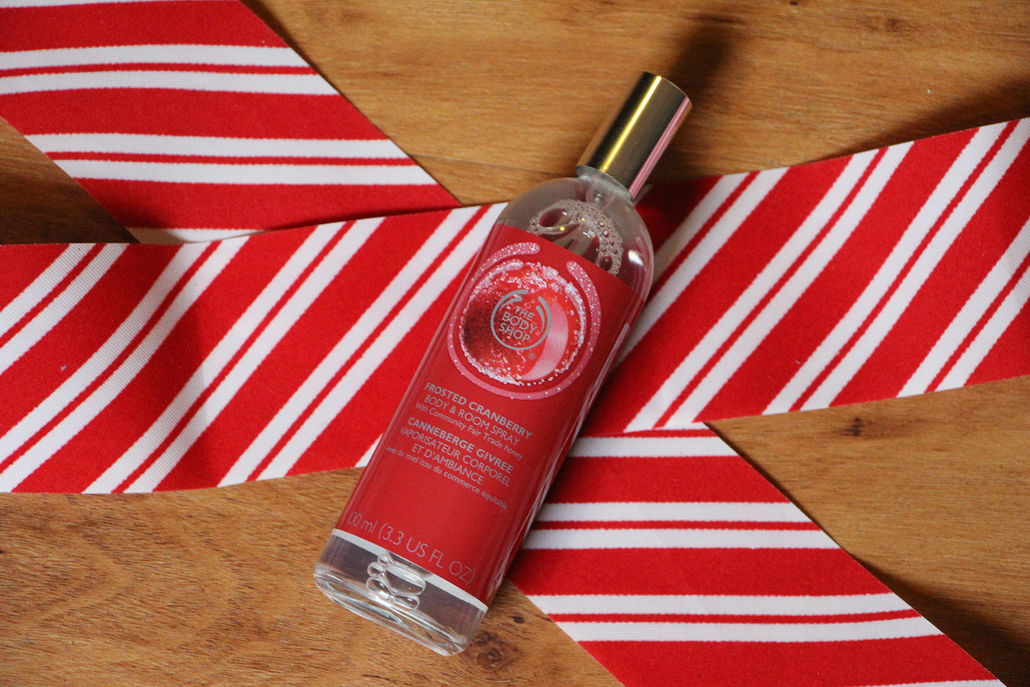 the body shop frosted cranberry room and body spray