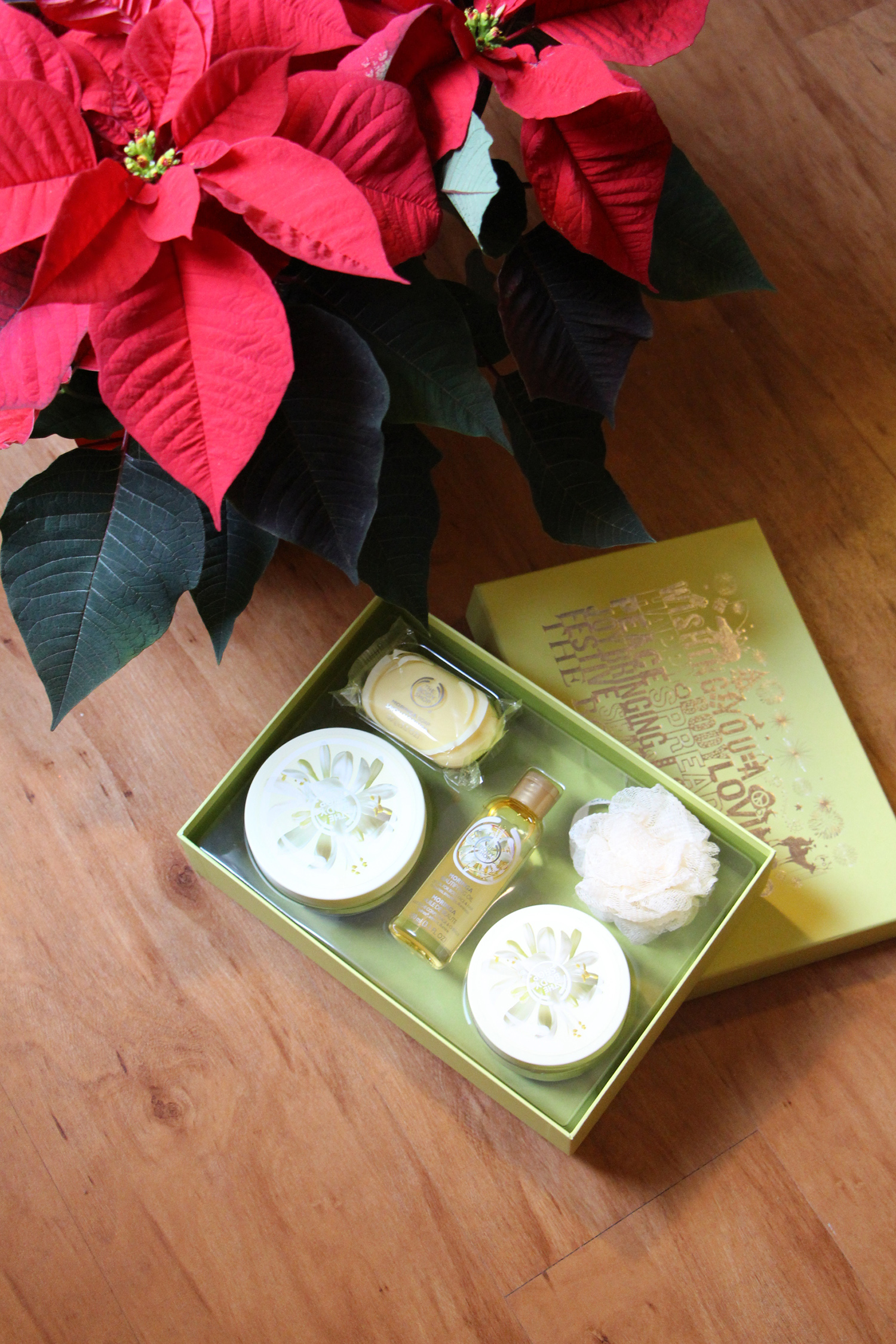 the body shop moringa gift set