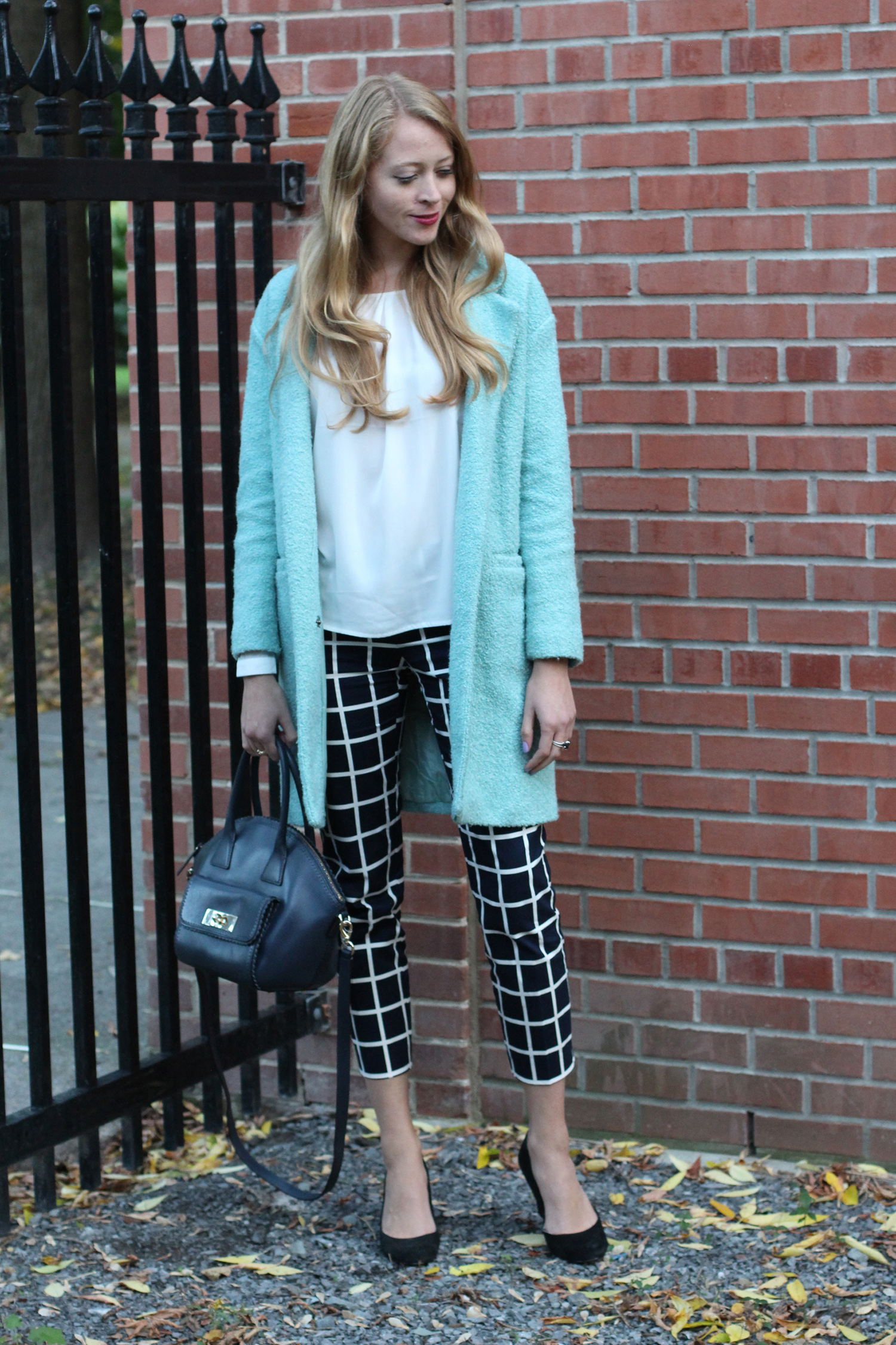 window pane print outfit