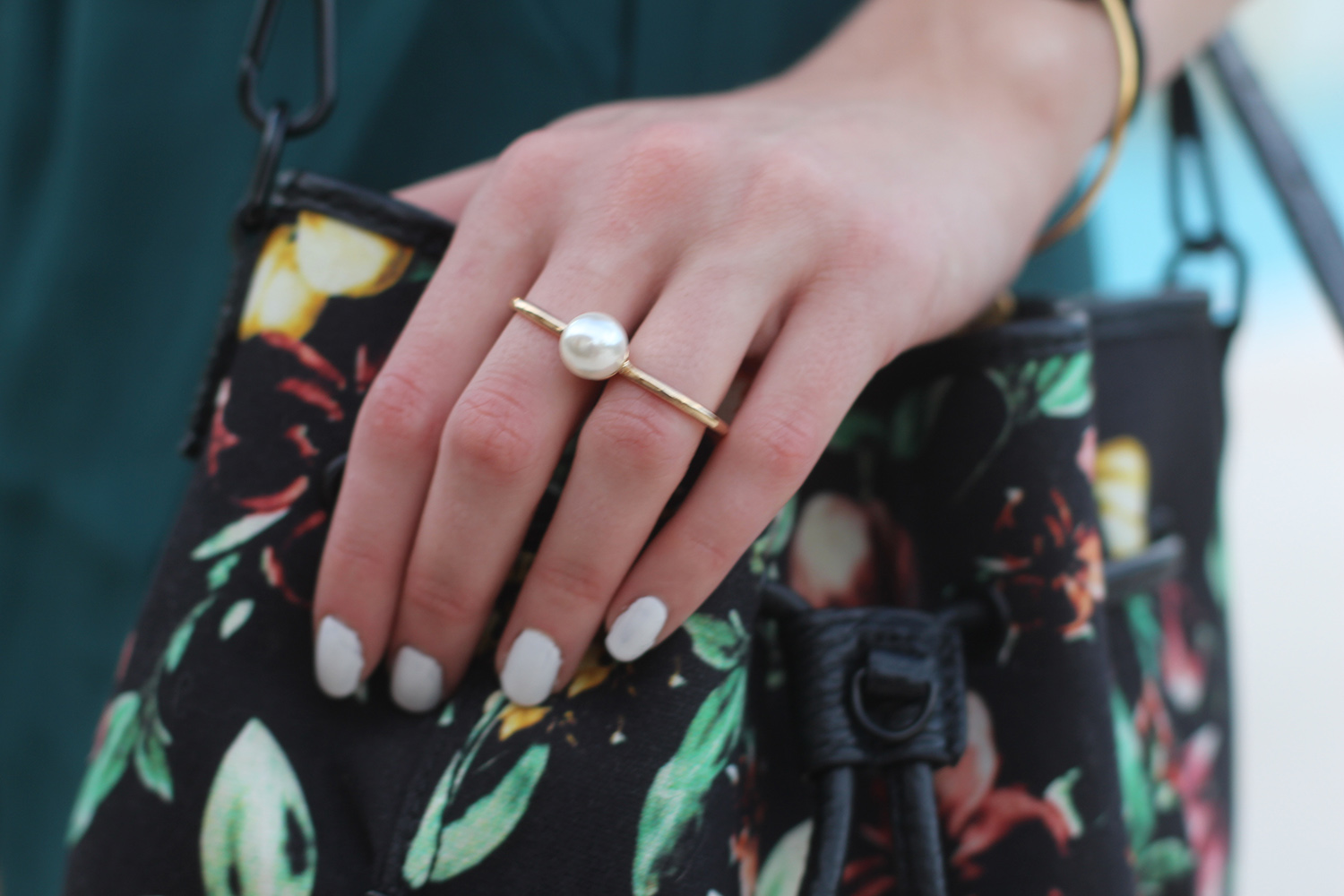 forever 21 pearl knuckle ring
