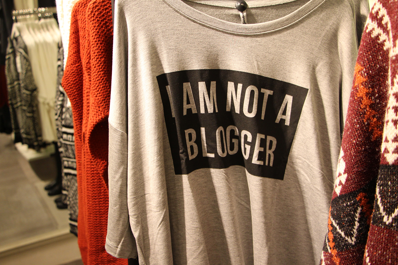 i am not a blogger tshirt