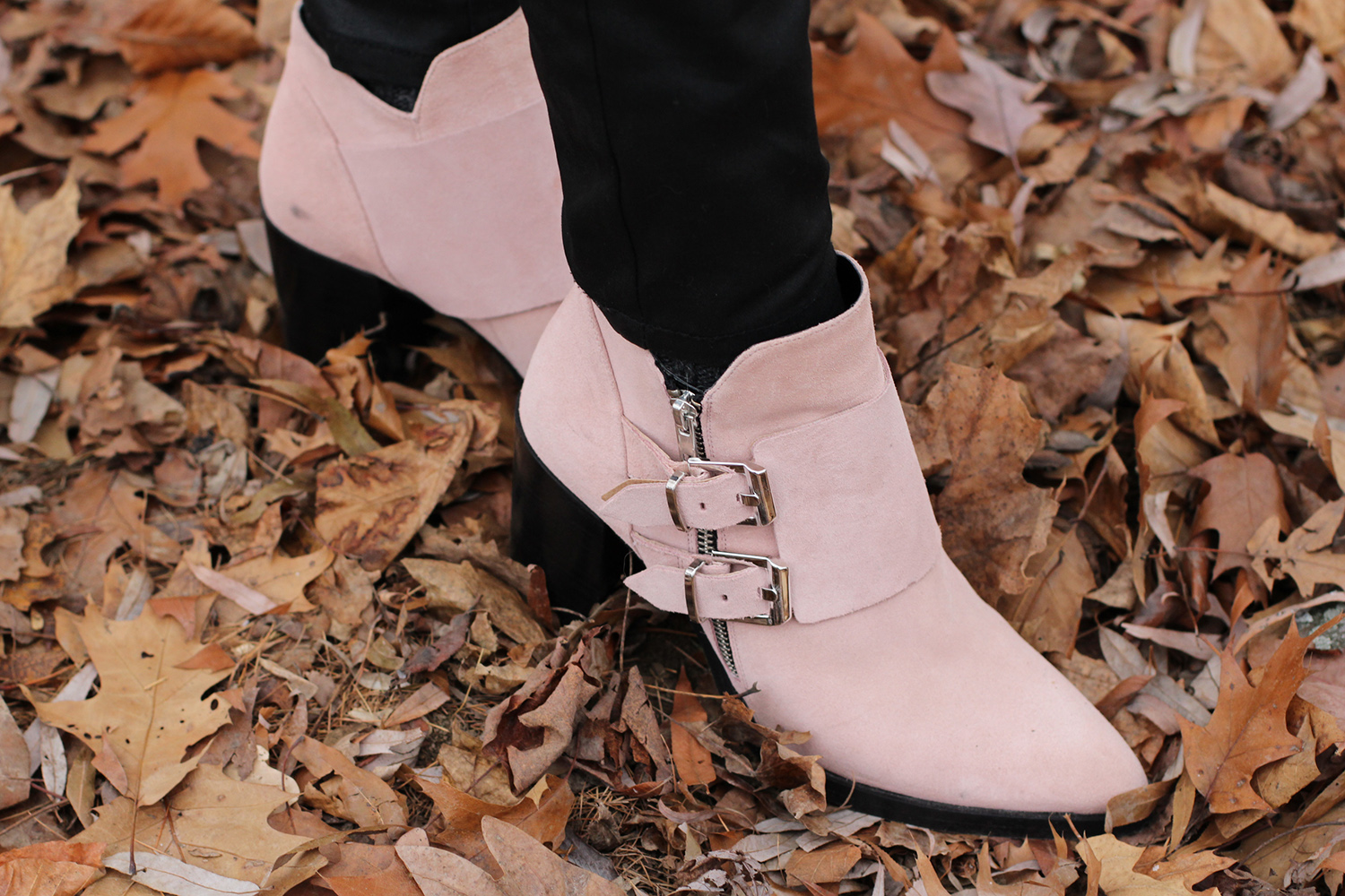 light pink zara booties