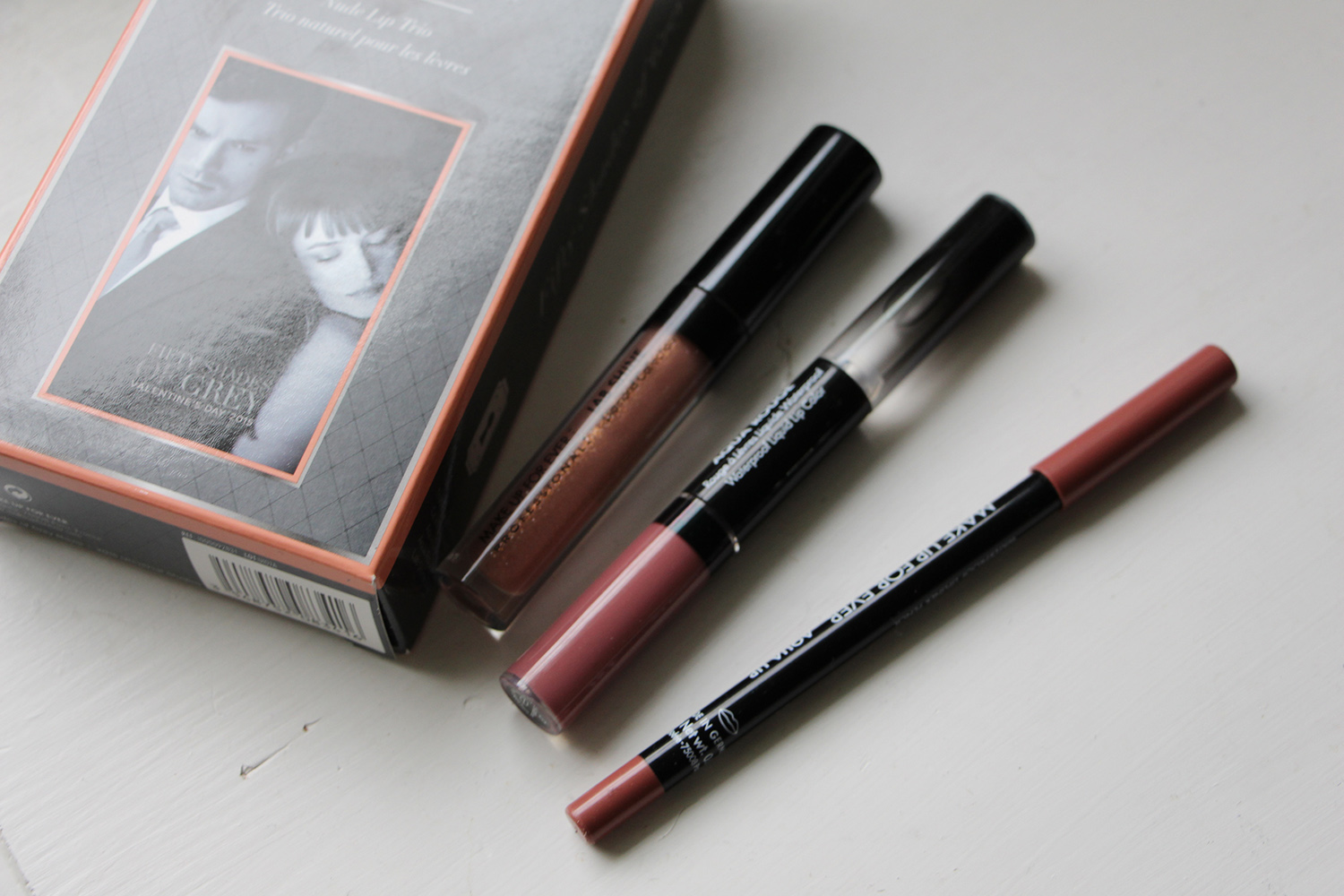 make up for ever fifty shades of grey lip trio