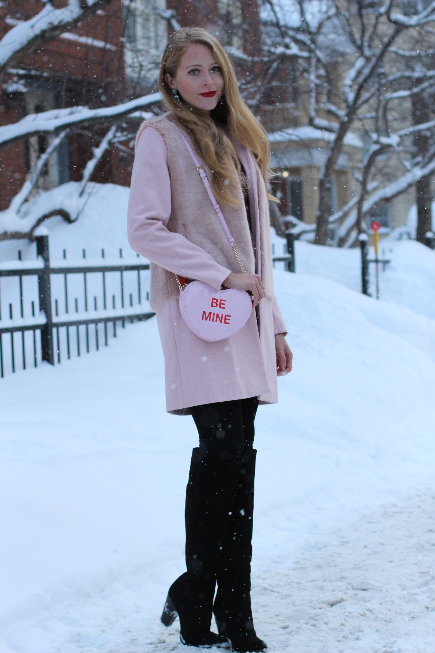 valentines day outfit pink coat