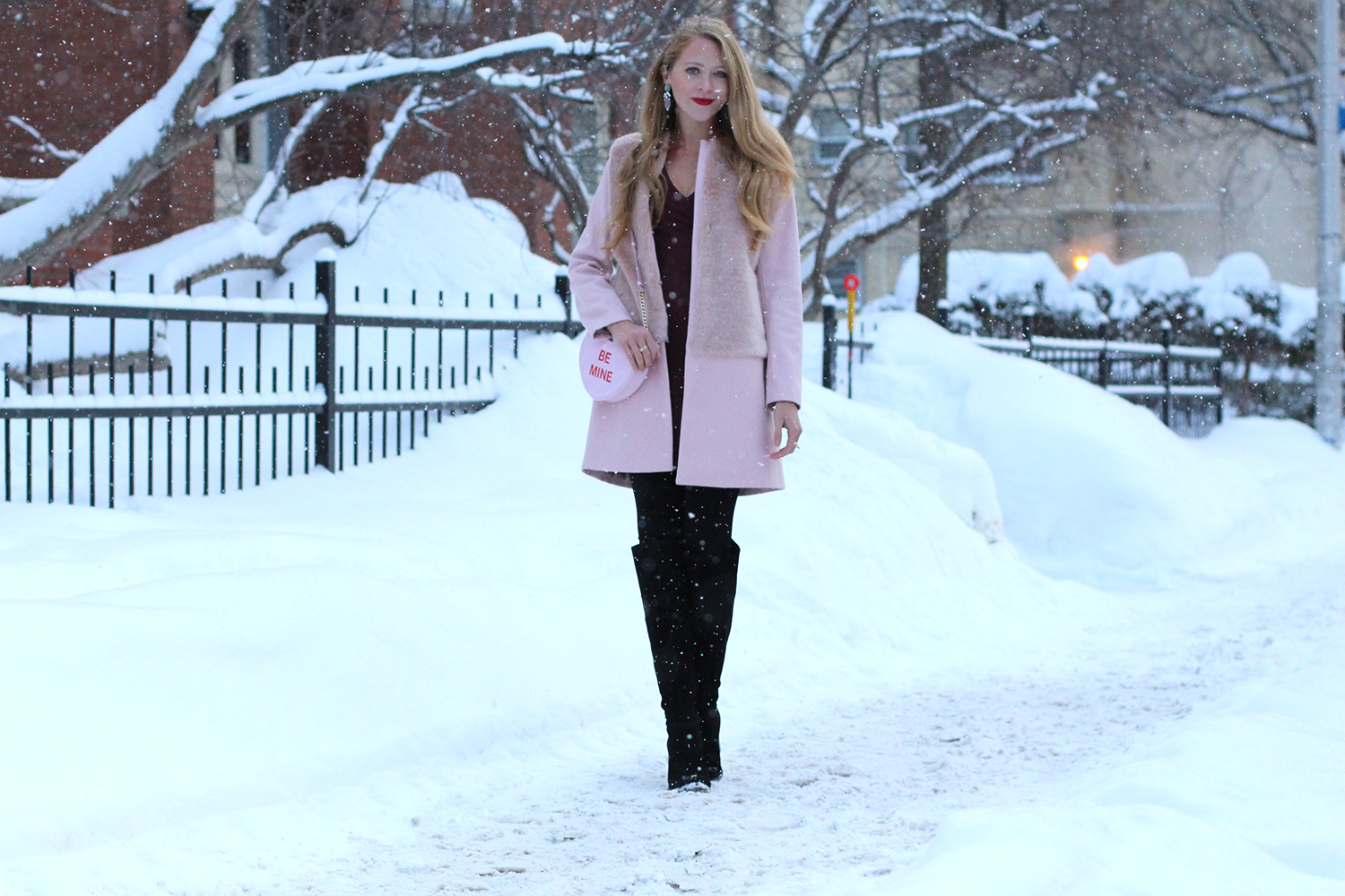 zara pink coat valentines day outfit