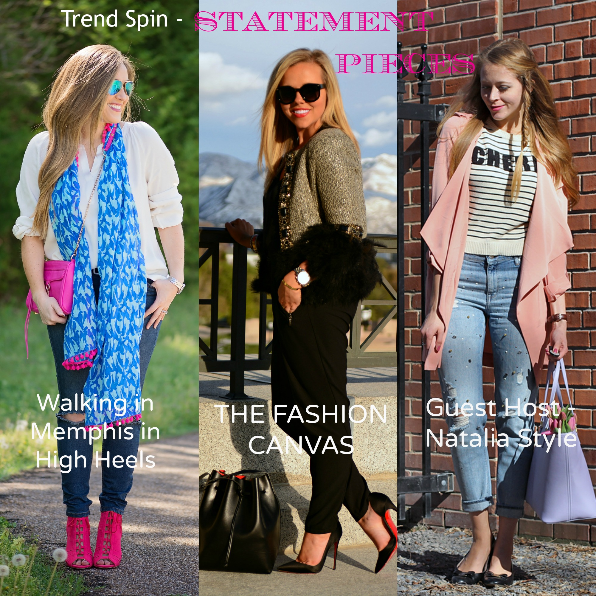 trend spin linkup statement pieces