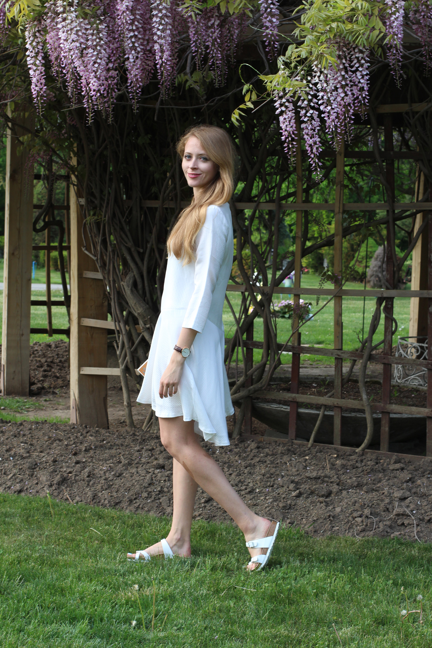 club monaco darti white dress
