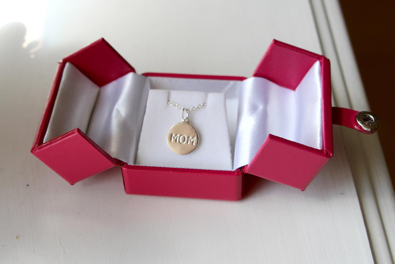helen ficalora silver mom necklace