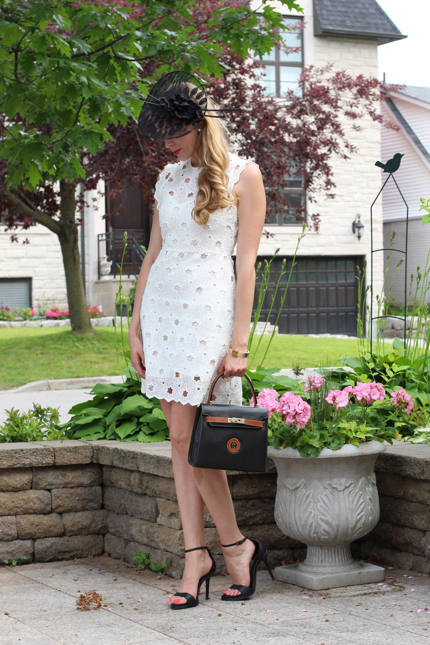 queen's plate fashion white dress