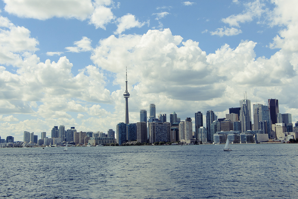 toronto skyline from ferry