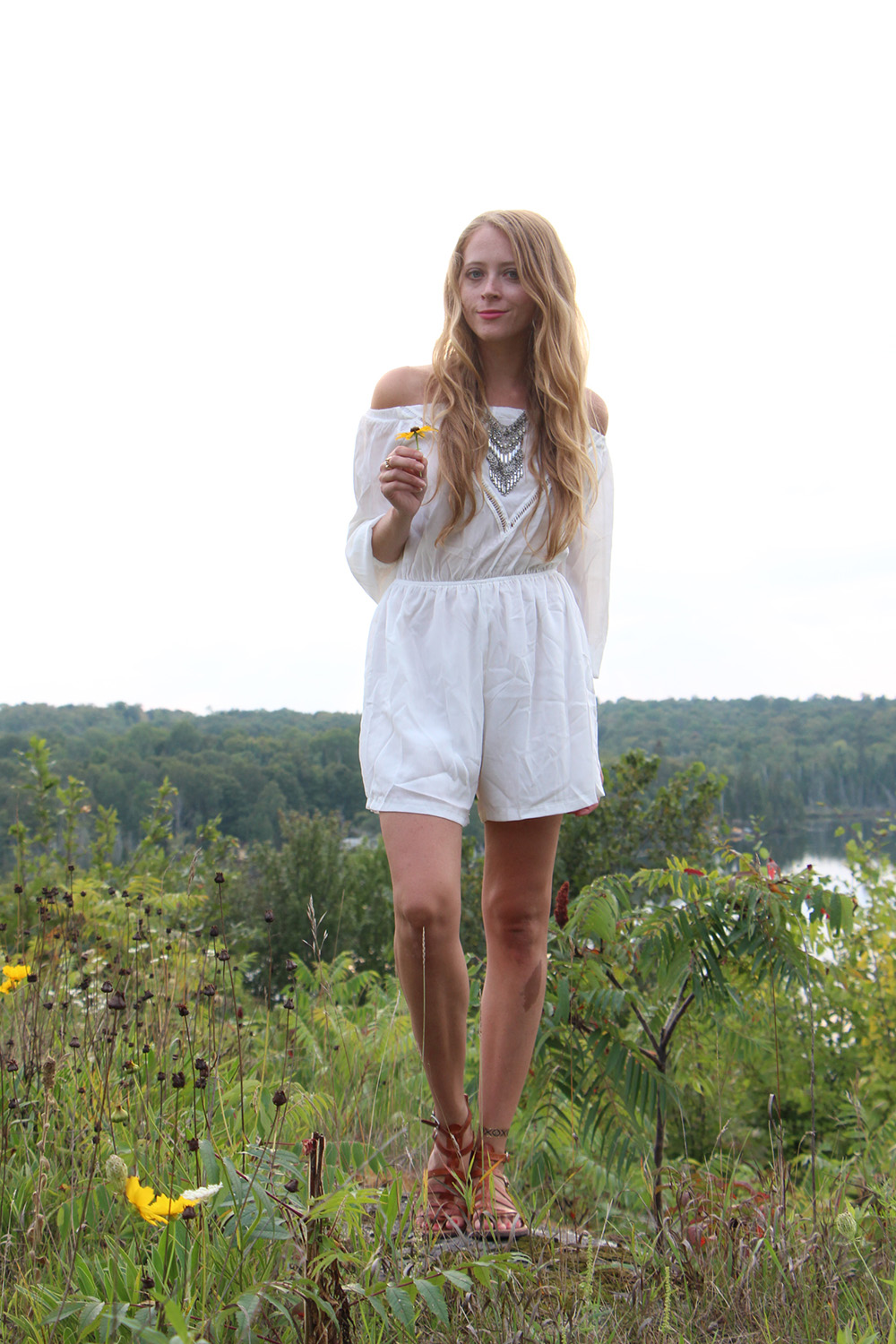 white romper labor day outfit