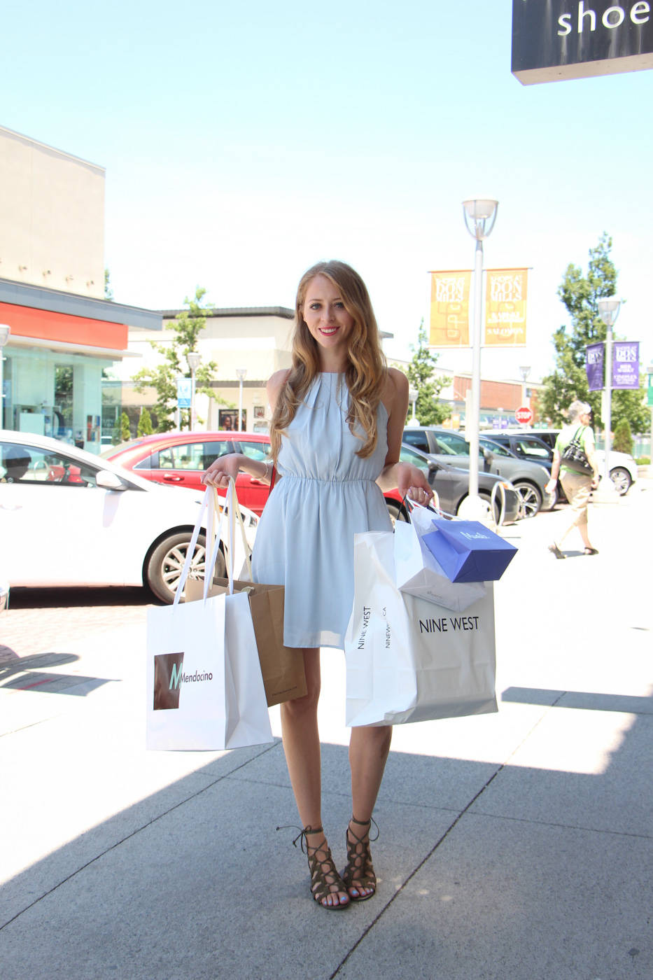forever 21 light blue halter dress (1 of 8)