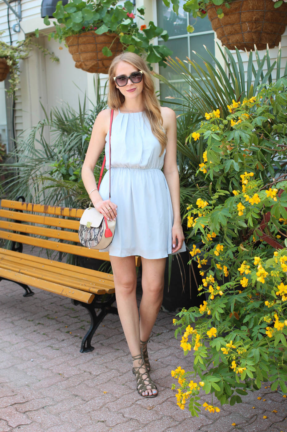forever 21 light blue halter dress (2 of 8)