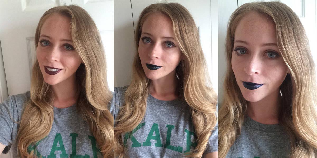 bite beauty savory lipstick try on