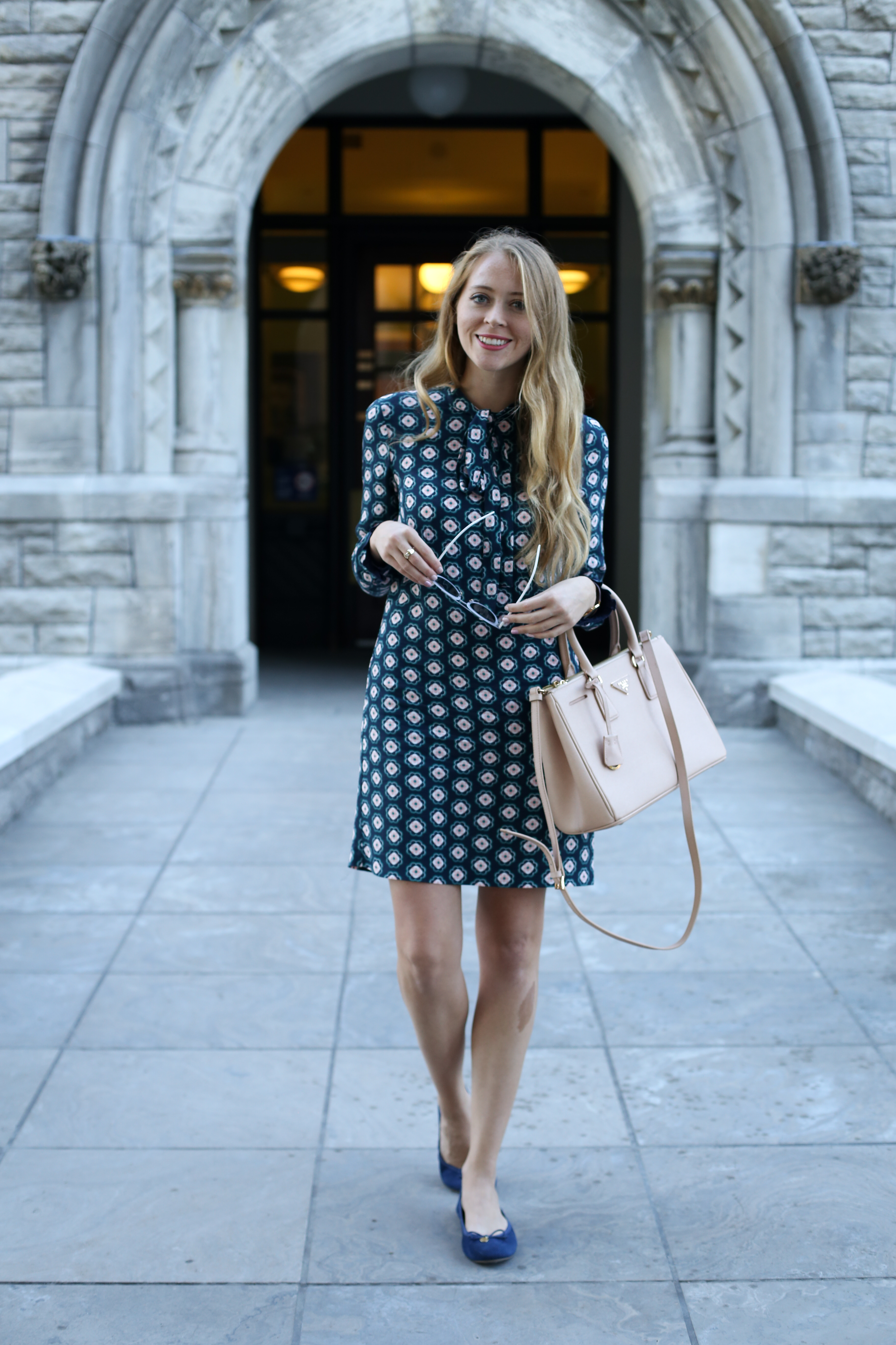 patterned-bow-neck-dress-1-of-5