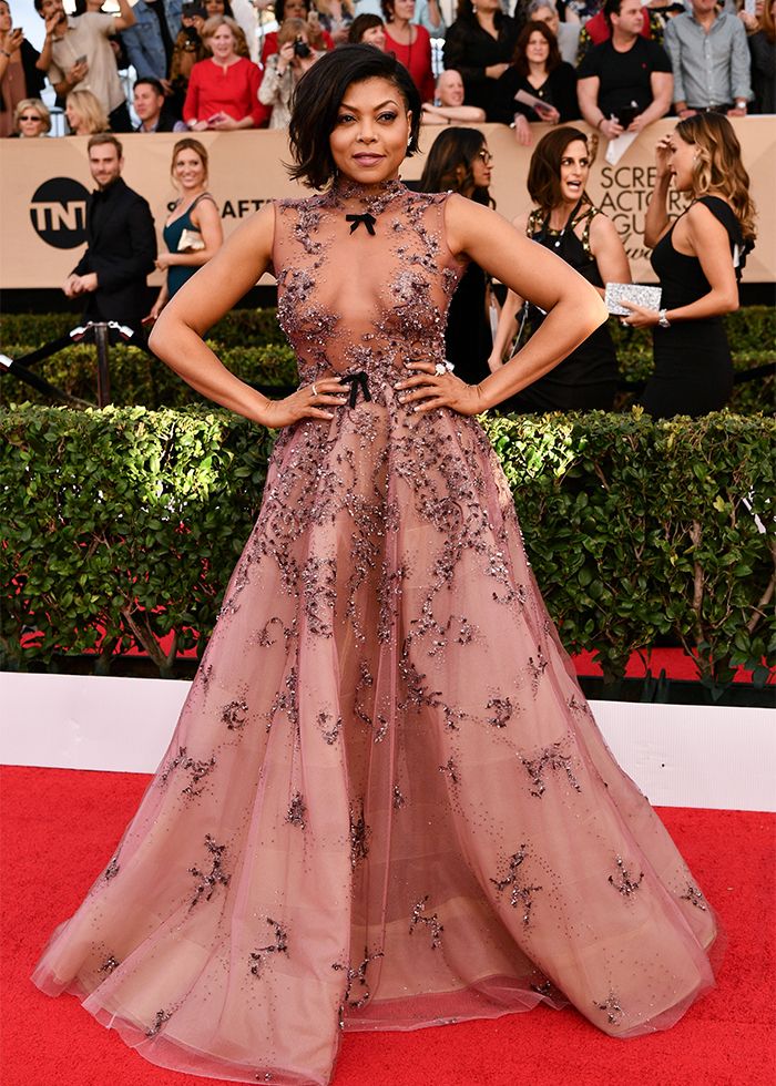 Taraji P. Henson Reem Acra Best dressed Sag awards 2017