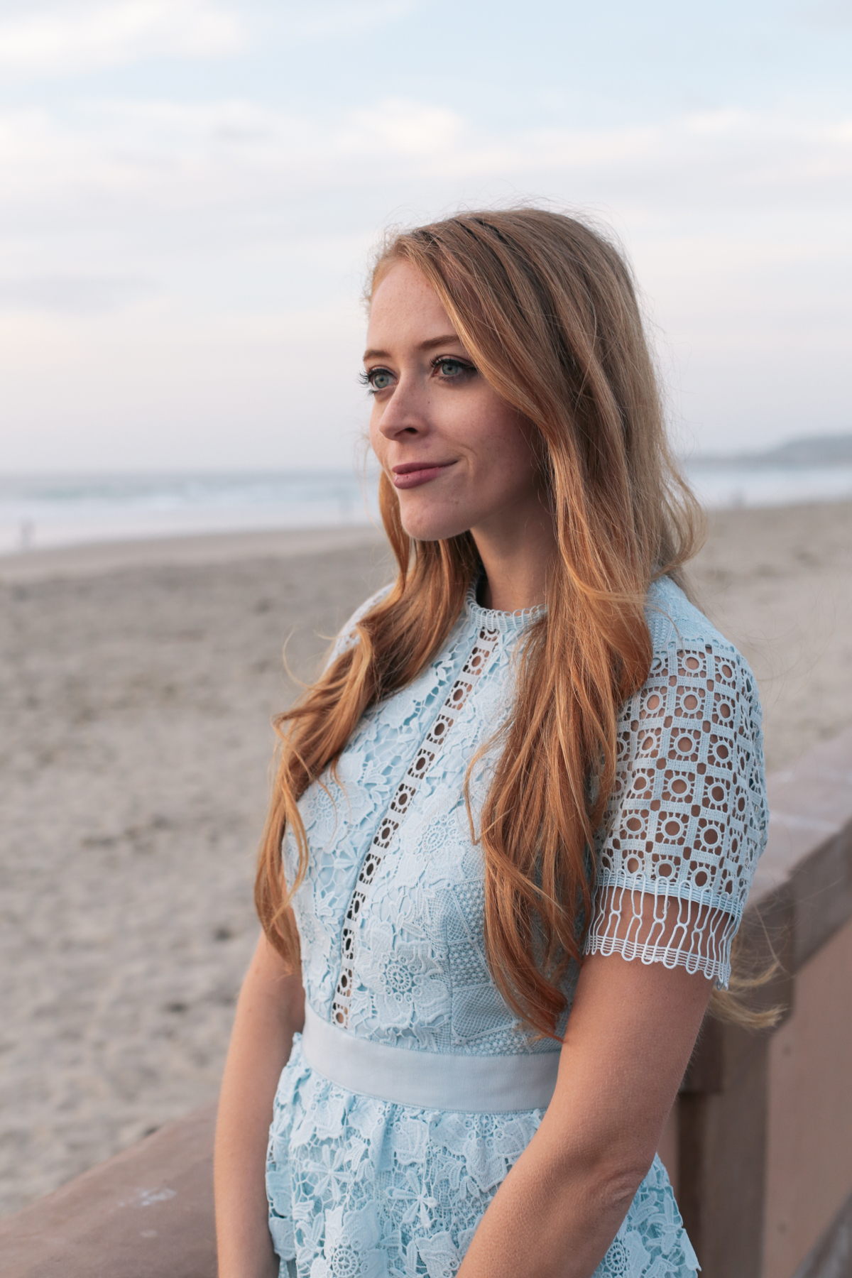 ted baker blue lace dress