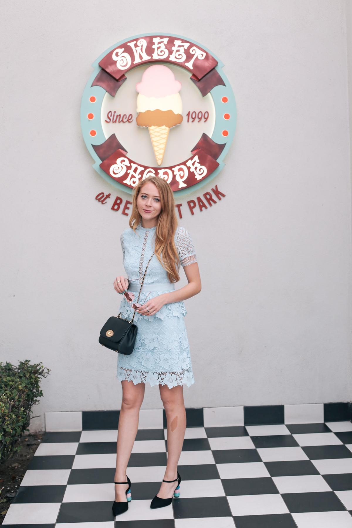 belmont park blue lace ted baker dress (2 of 19)