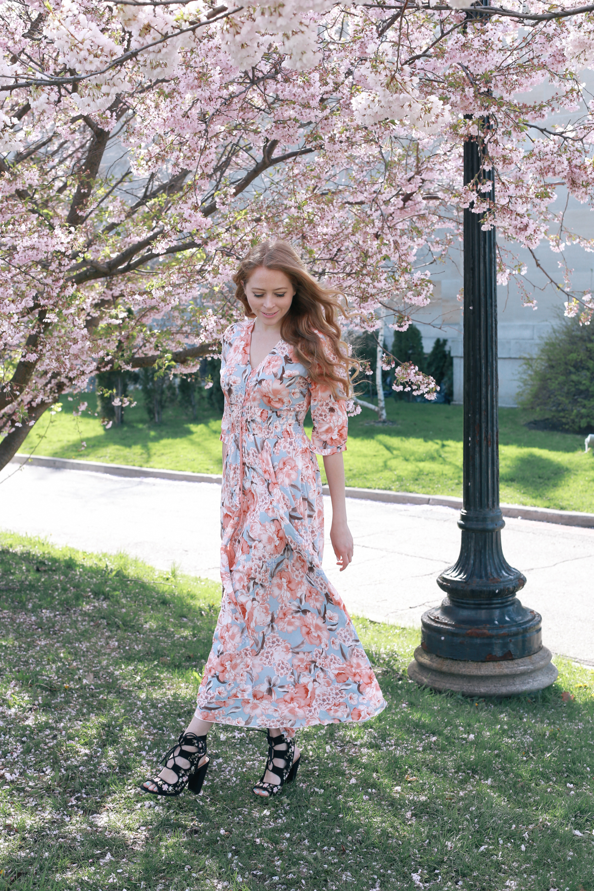 cherry blossom print dress (2 of 11)