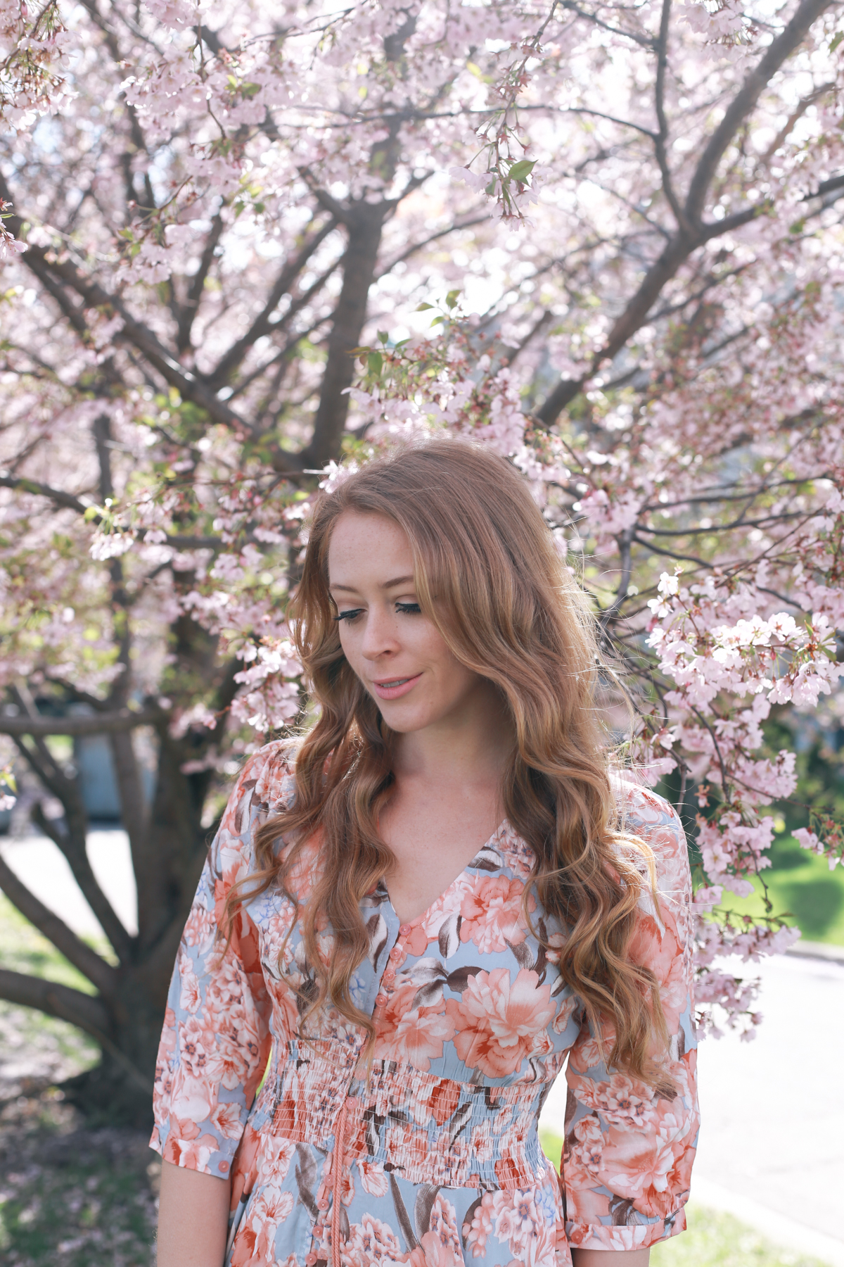 cherry blossom print dress (6 of 11)