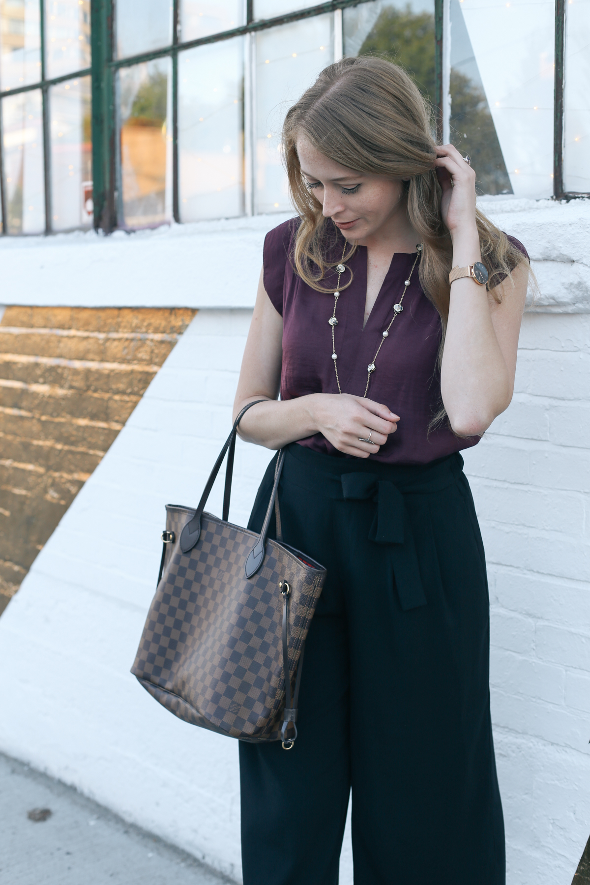 casual friday outfit ideas lv neverfull (3 of 4)