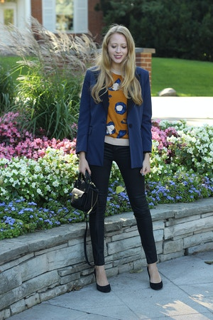 3.1 phillip lim for target blazer and leopard sweater