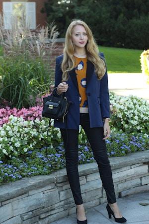 3.1 phillip lim target leopard sweater blazer