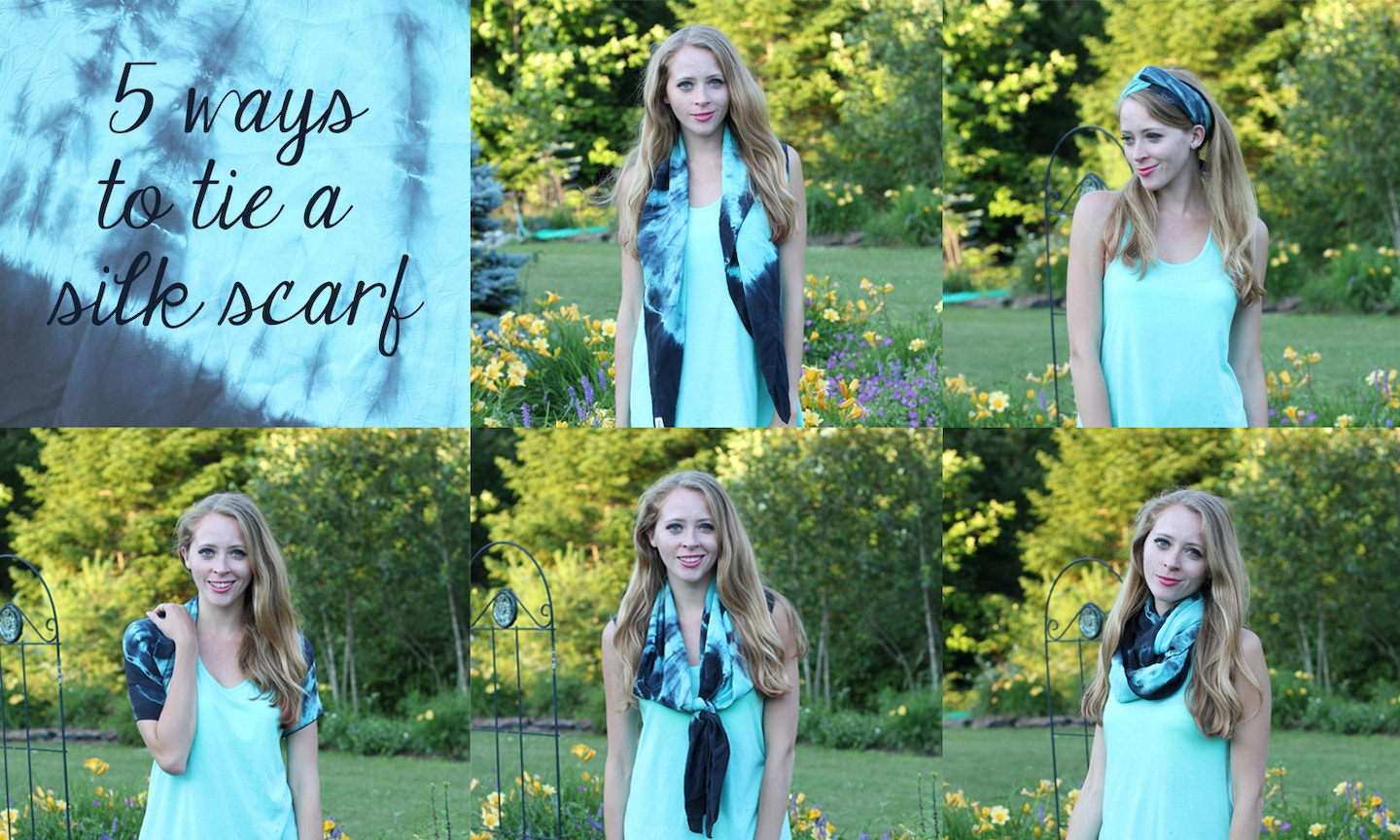 How to: 5 ways to tie a silk scarf