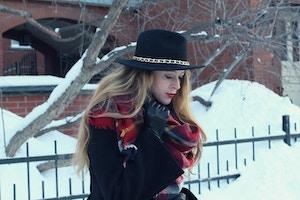5zara red plaid scarf