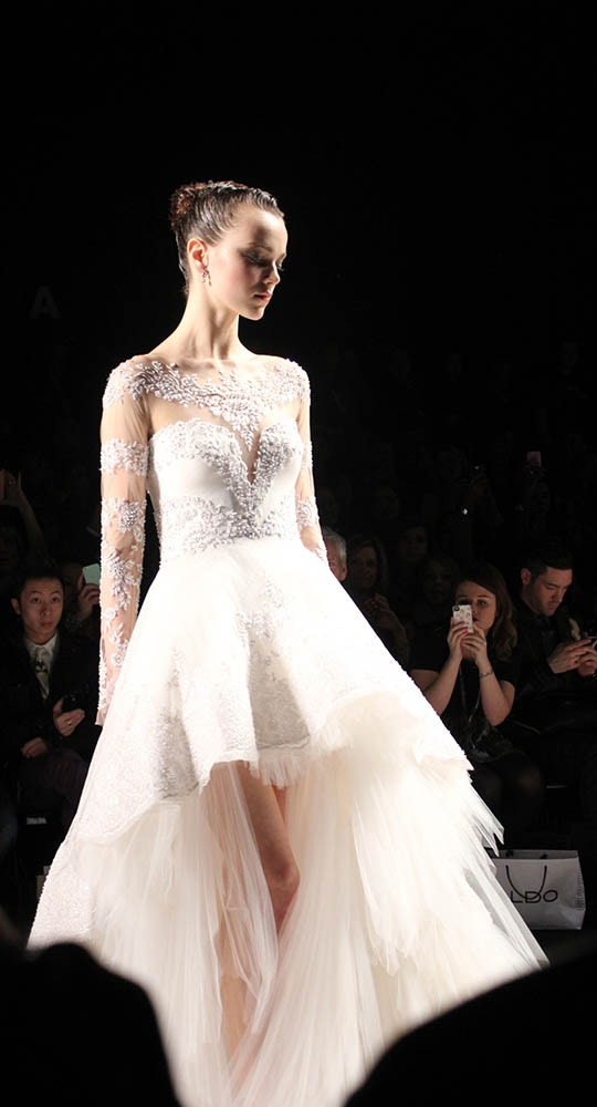 Pavoni brings a new silhouette to bridal