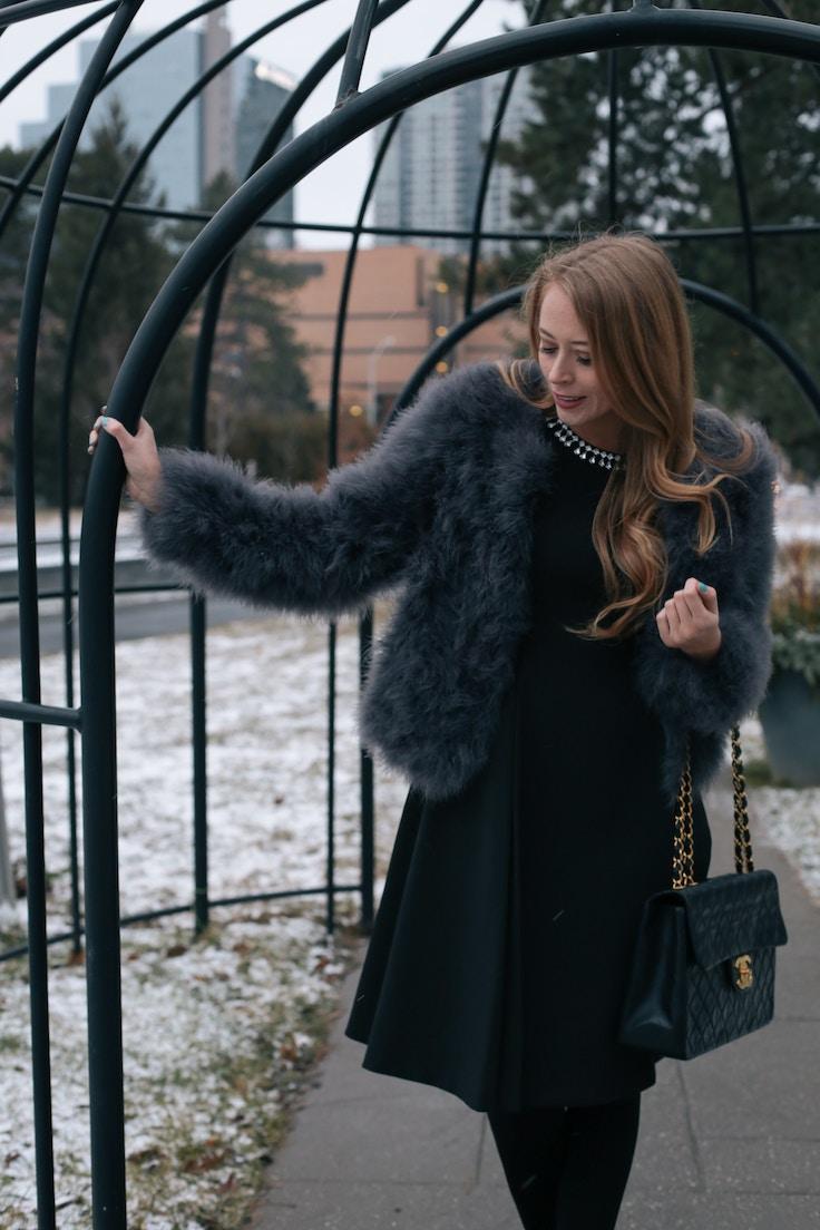 Chanel Jumbo bag feather coat (3 of 10)