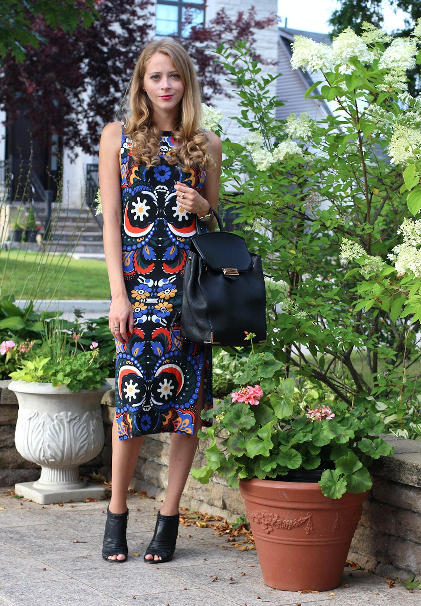 how to wear a midi dress to work