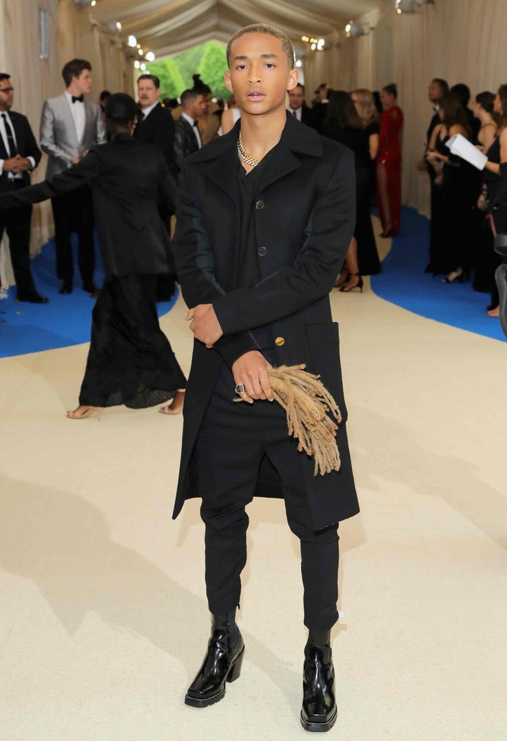 Jaden Smith dreadlocks met gala