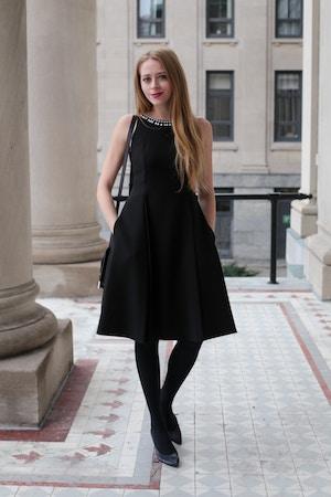 f26fb5d9061 Kate Spade black cocktail dress - nataliastyle