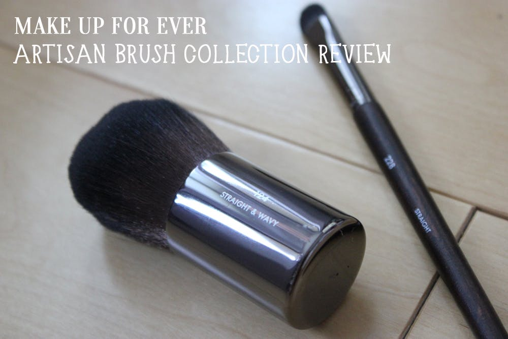 Make Up For Ever Artisan Brush Collection Review