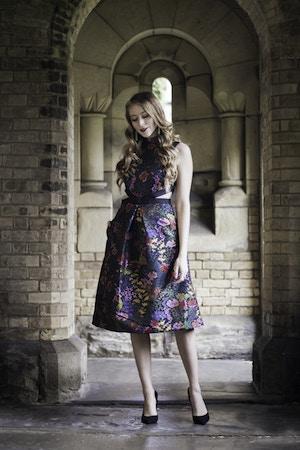 erdem jacquard floral dress