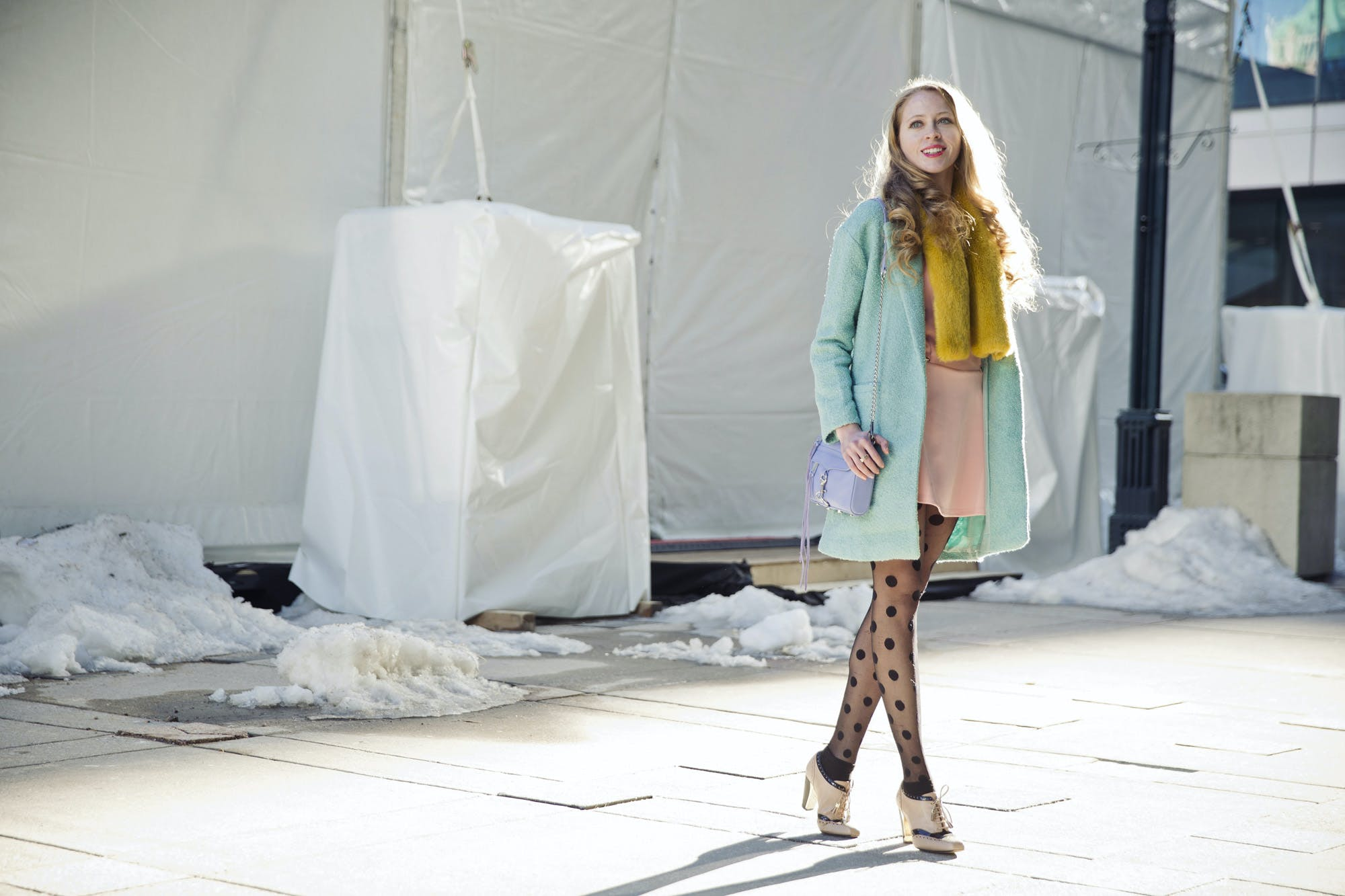 What I wore to WMCFW Day 5: Pastel colour blocking